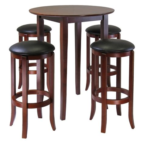 round high top table winsome fiona 5 piece round pub high table set dining