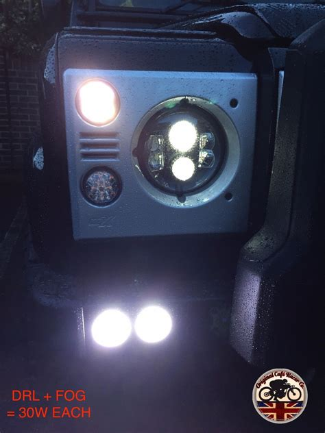 led  drl  angel eye halo fog light lamp land rover