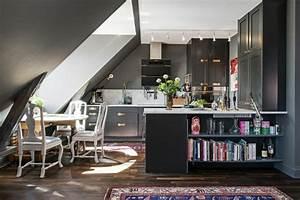 Küche Unter Der Dachschräge : k che dachschr ge 50 ideen f r ein auff lliges k chendesign ~ Lizthompson.info Haus und Dekorationen