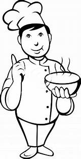 Coloring Pages Chef Chefs Printable Kitchen Az sketch template