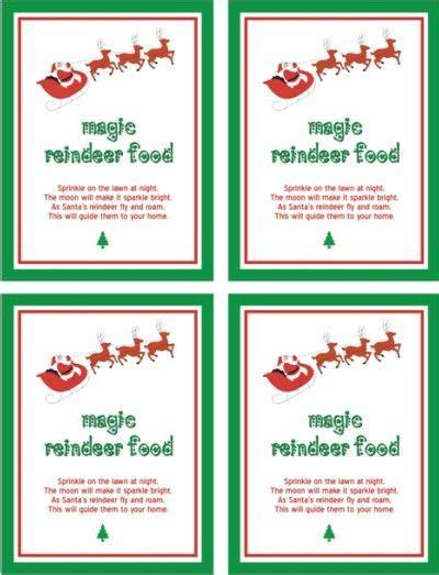 printable reindeer food poem reindeer food magic
