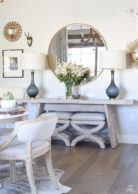 Join the bless'er house budget decorating community. Simple, Neutral Thanksgiving Entertaining   Dining room buffet, Dining room walls, Home