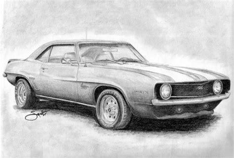 pencil drawings  corvette pencil drawings