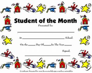 printable student of the month awards school certificates With free printable student of the month certificate templates