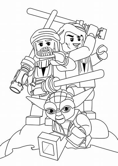 Lego Wars Coloring Star Pages Printable