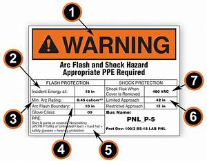 arc flash labeling requirements how to comply with nfpa With kitchen cabinets lowes with arc flash stickers