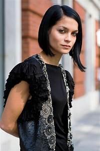 Coupe Carré Lisse : coiffures coupe de cheveux femmen carr lisse noir asym trique ~ Melissatoandfro.com Idées de Décoration