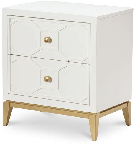 Gold Nightstand by Uptown White And Gold Stand From Racheal Home