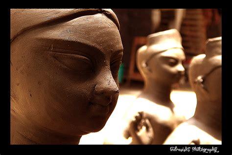 making  maa durga idol  photo  west bengal east