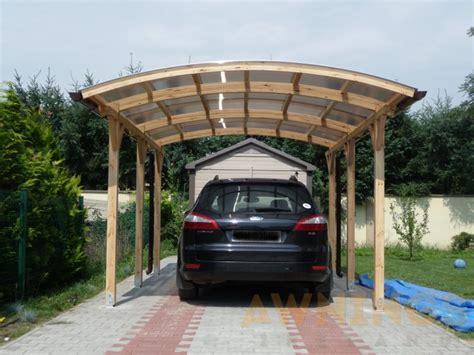 detached wooden carport