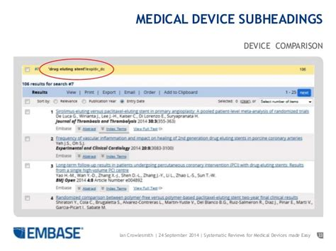 Systematic Searching For Medical Devices Made Easy In