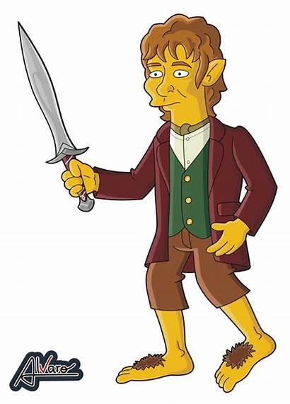 Bilbo Baggins Simpsons True North Characters Cartoon