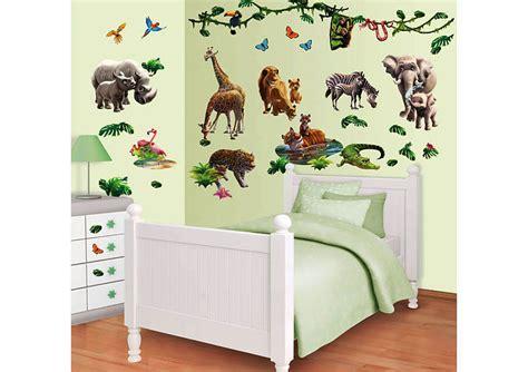 wandtattoo tiere kinderzimmer wandtattoo wandsticker kinderzimmer dschungel tiere afrika safari zoo wanddeko ebay