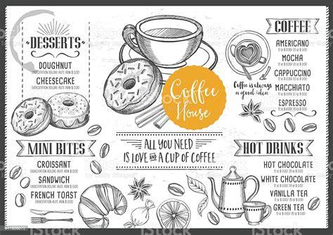 7,000+ vectors, stock photos & psd files. Coffee Cafe Menu Template Design Stock Illustration ...