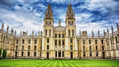 Oxford University College Kingdom United Background Campus