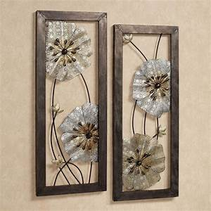 malacia openwork floral metal wall art set With floral wall art