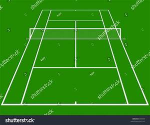 Tennis Court Layout In Perspective Stock Photo 695404
