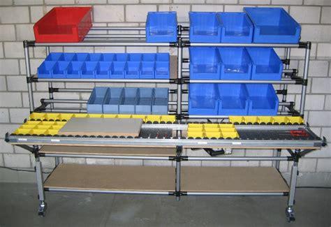 lean management system arbeitsplatzgestaltung mit rohrsystem