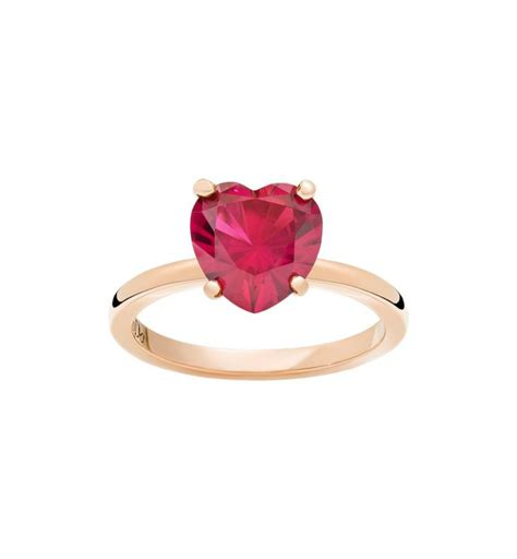 dodo pomellato anelli anello 100 oro rosa 9kt rubino sintetico dodo