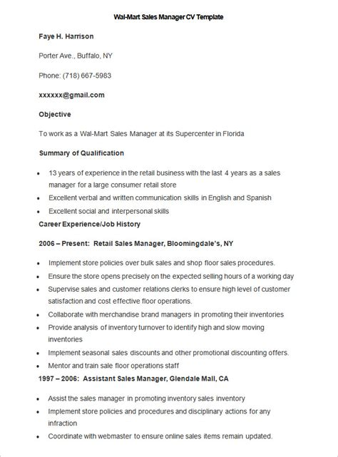 Exle Of A Well Written Cv by Sales Resume Template 41 Free Sles Exles Format