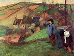 Landscape of Brittany - Paul Gauguin - WikiArt.org ...