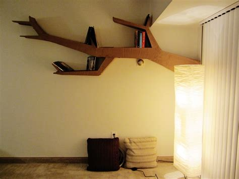 tree branch bookshelf  steps  pictures