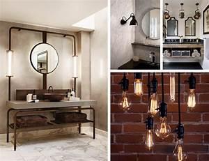 Luminaire Industriel Ikea : salle de bain industrielle inspiration ~ Teatrodelosmanantiales.com Idées de Décoration
