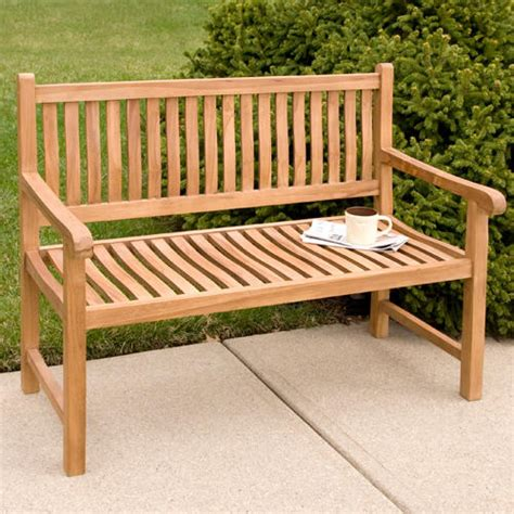 holley 4 ft teak outdoor curved back bench outdoor