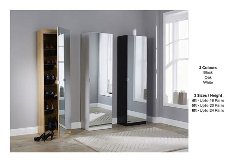 Images Of Shoe Racks Cabinets by Mirrored Shoe Cabinet Storage Rack Mirror 3 Sizes