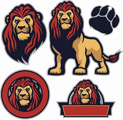 Lion Mascot Cool Pack Vector Illustrations Awesome