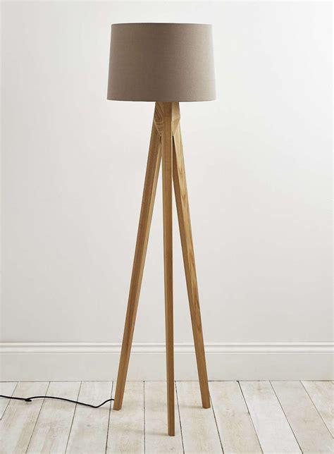 wooden floor light tripod floor l wooden legs light fixtures design ideas