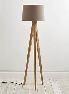 Tripod floor lamp wooden legs light fixtures design ideas for Tripod floor lamp with wooden legs