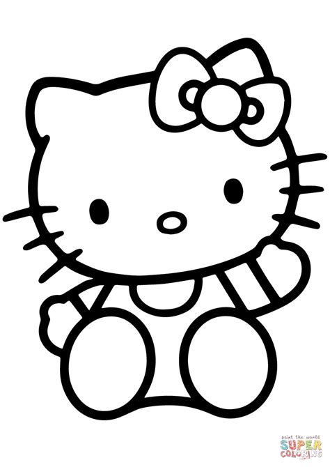 kitty coloring page  printable coloring pages