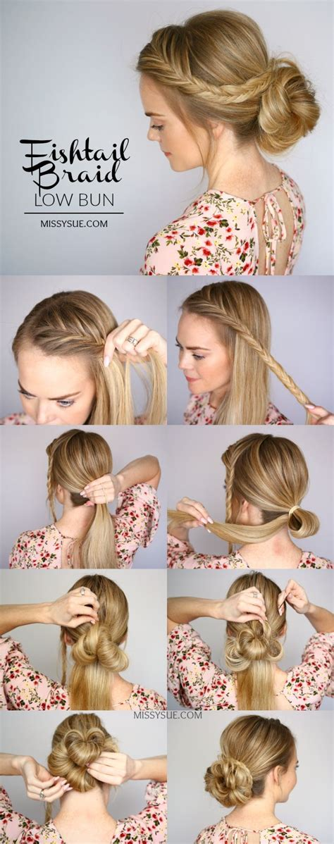best 25 low bun tutorials ideas on easy low