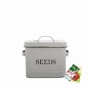 Boite De Rangement Pour Verres à Pied : bo te en m tal gris pour graines rangement jardin ~ Teatrodelosmanantiales.com Idées de Décoration
