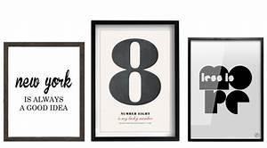 Cadre Deco Noir Et Blanc : des statement posters en noir et blanc joli place ~ Melissatoandfro.com Idées de Décoration