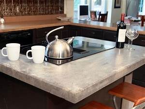 Poured concrete countertops - amazing durability and