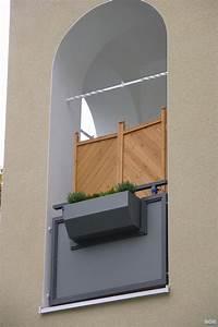 balkon ideen blumenkasten gelander mobelideen With französischer balkon mit sonnenschirm stoff ersatz