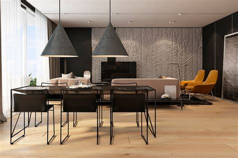 Two Apartments With Texture One Soft One Sleek by Two Apartments With Texture One Soft One Sleek Salle 224