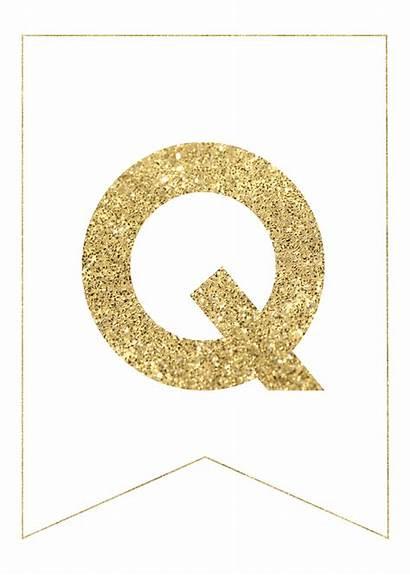 Gold Letters Banner Glitter Printable Alphabet Transparent