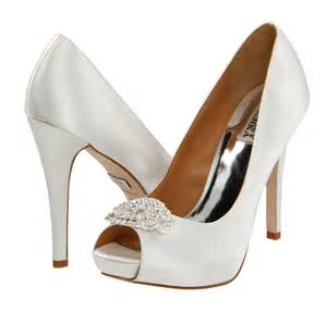 wedding shoes white peep toe bridal shoes bitsy