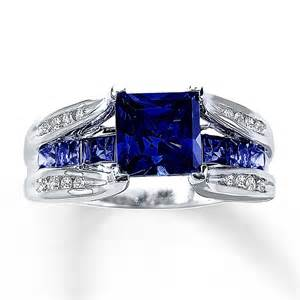 lab created white sapphire engagement rings lab created sapphire ring 1 8 ct tw diamonds 10k white gold