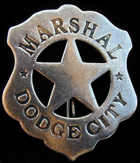 dodge city marshal badge