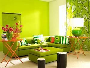 Wandfarbe Grün Palette : wohnen mit farben gr n total im wohnzimmer sch ner wohnen trendfarbe fresh bild 12 ~ Watch28wear.com Haus und Dekorationen