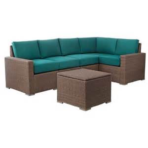 heatherstone 6 piece wicker patio sectional seat target