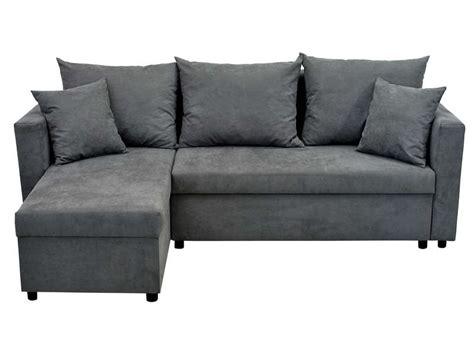 fauteuil d angle conforama canap 233 d angle r 233 versible convertible 5 places caracas coloris gris conforama