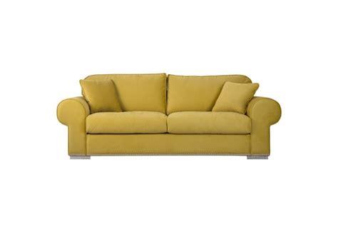 canapé chic canapé chic et original 2 places en tissus moutarde avec