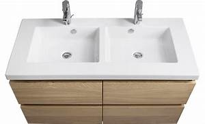 Meuble Vasque Double : godmorgon bra viken meuble lavabo tir 2017 avec meuble double vasque des photos alfarami ~ Teatrodelosmanantiales.com Idées de Décoration