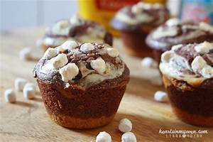 Hearts in My Oven: S'mores Brownie Cheesecake Bites