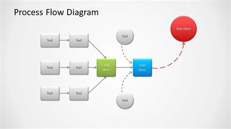 Proces Flow Diagram In Powerpoint by Process Flow Diagram For Powerpoint Slidemodel